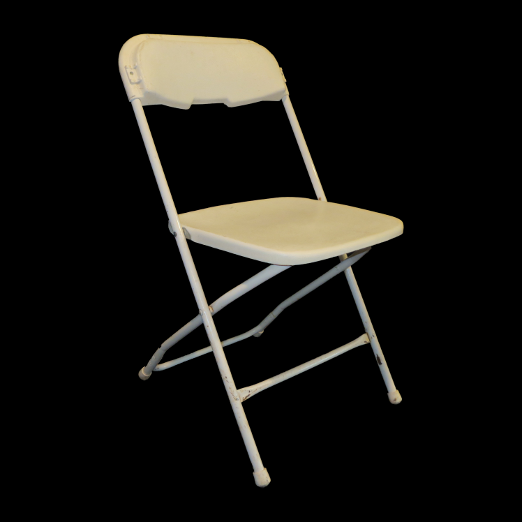 metal folding chair with plastic seat and back