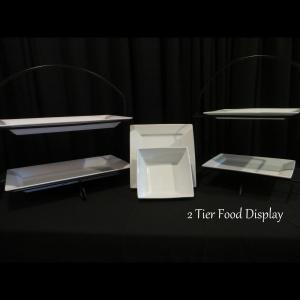 2 tier food display
