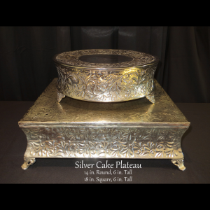 silver cake risers