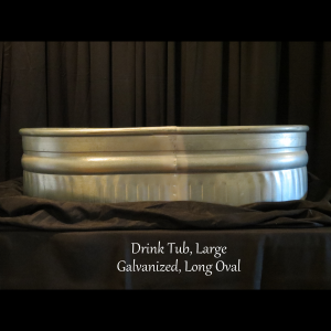 large metal drink tub