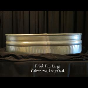 large metal drink tub