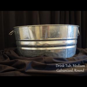 medium metal drink tub